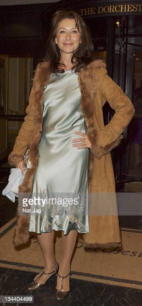 Actress Cherie Lunghi arrives at the Chain of Hope Annual Ball held at the Dorchester Hotel on February 2008 in London United Kingdom