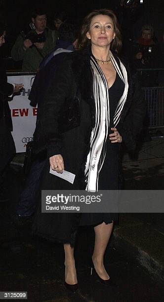 Actress Cherie Lunghi attends the first anniversary of advertising mogul Charles Saatchi's contemporary Saatchi Gallery at the south east London...