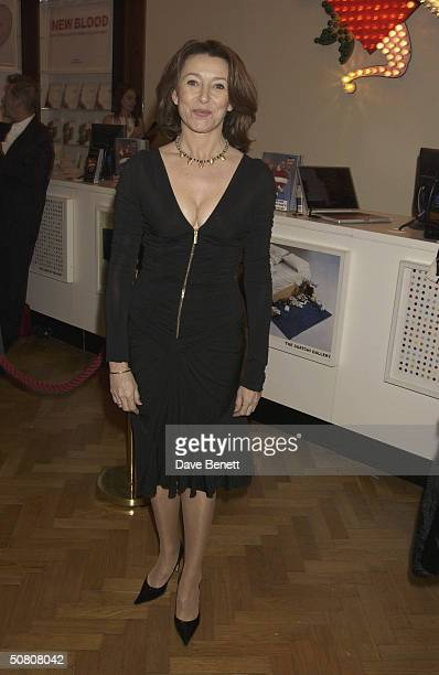 Actress Cherie Lunghi attends the first anniversary of advertising mogul Charles Saatchi's contemporary art gallery on 23rd March 2004 in London....