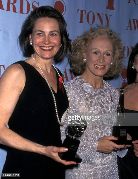 Actress Cherry Jones and actress Glenn Close attend the 49th Annual Tony Awards on June 4 1995 at the Minskoff Theatre in New York City