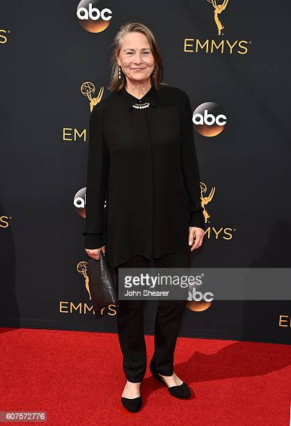 Actress Cherry Jones arrives at the 68th Annual Primetime Emmy Awards at Microsoft Theater on September 18 2016 in Los Angeles California