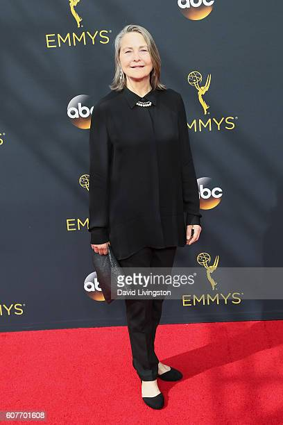Actress Cherry Jones arrives at the 68th Annual Primetime Emmy Awards at the Microsoft Theater on September 18 2016 in Los Angeles California