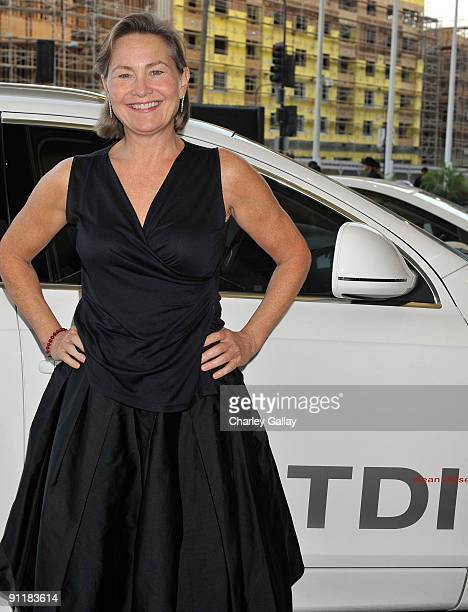 Actress Cherry Jones arrives in an Audi TDI at the Point Foundation's Point Honors Gala at Renaissance Hollywood Hotel on September 26 2009 in...