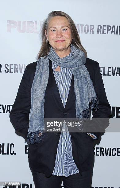 Actress Cherry Jones attends The Public Theater's opening night celebration of 'The Sound And The Fury' and 'MacBeth' at The Public Theater on May 21...