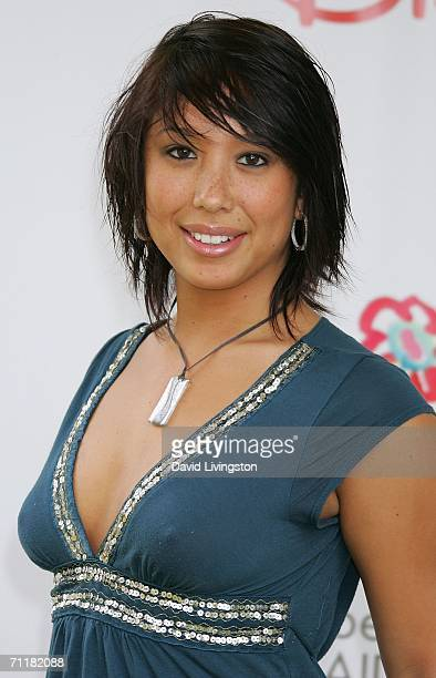 Actress Cheryl Burke attends A Time for Heroes Celebrity Carnival sponsored by Disney to benefit the Elizabeth Glaser Pediatric AIDS Foundation on...