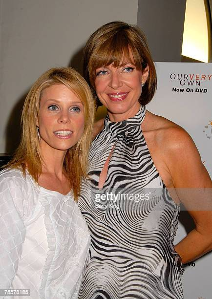 Actress Cheryl Hines and actress Allison Janney attend the Our Very Own DVD release event held at Loew's Santa Monica Beach Hotel on July 19 2007 in...