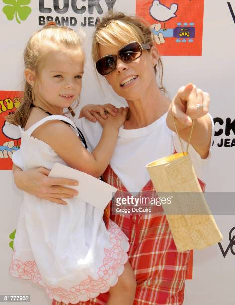 Actress Cheryl Hines and daughter Catherine arrive at the 2nd Annual Kidstock Music And Art Festival on June 1 2008 at Greystone Mansion in Beverly...