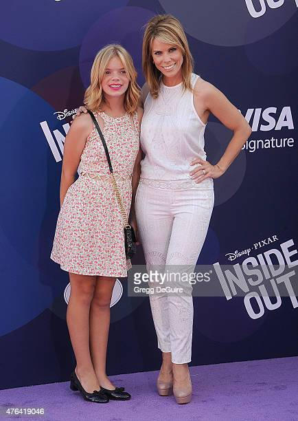 Actress Cheryl Hines and daughter Catherine Rose Young arrive at the Los Angeles premiere of Disney/Pixar's Inside Out at the El Capitan Theatre on...