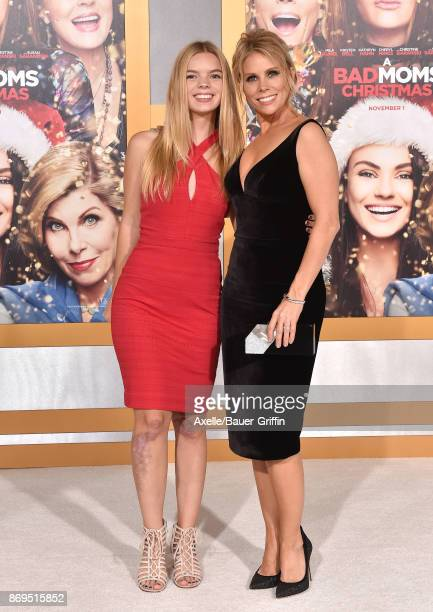 Actress Cheryl Hines and daughter Catherine Rose Young arrive at the Los Angeles premiere of 'A Bad Moms Christmas' at Regency Village Theatre on...
