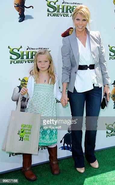 Actress Cheryl Hines and daughter Catherine Rose Young arrive at the Los Angeles Premiere Shrek Forever After at Gibson Amphitheatre on May 16 2010...