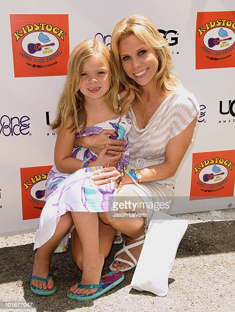 Actress Cheryl Hines and daughter Catherine Young attend the 4th annual Kidstock Music Arts Festival at Greystone Mansion on June 6 2010 in Beverly...