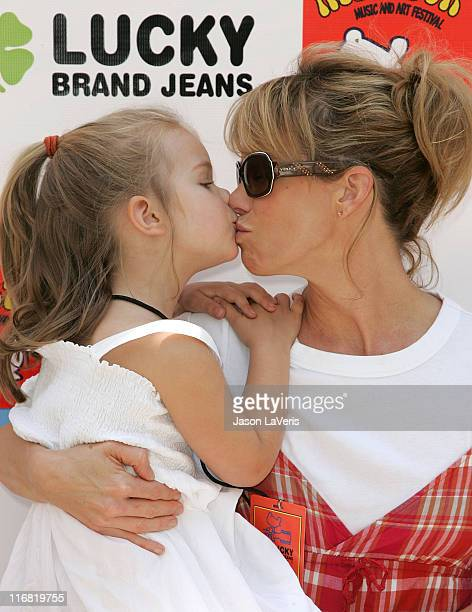 Actress Cheryl Hines and her daughter Catherine Rose attend the Second Annual Kidstock Music and Art Festival on June 1 2008 in Beverly Hills...