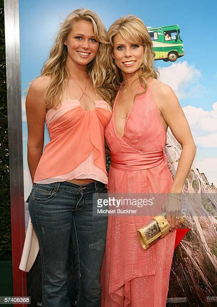 Actress Cheryl Hines and neice Kalley Hines arrive at Sony Pictures' premiere of 'RV' at the Mann Village Theatre on April 23 2006 in Los Angeles...