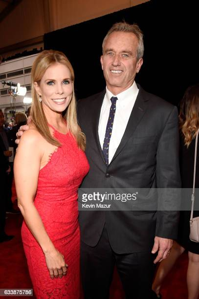Actress Cheryl Hines and radio host Robert F Kennedy Jr attend 6th Annual NFL Honors at Wortham Theater Center on February 4 2017 in Houston Texas
