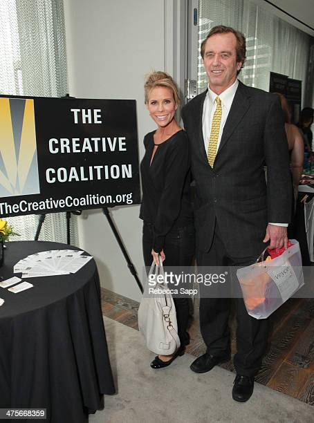 Actress Cheryl Hines and Robert F Kennedy Jr attend Kari Feinstein's PreAcademy Awards Style Lounge at the Andaz West Hollywood on February 28 2014...