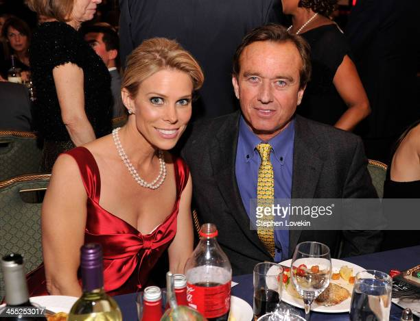 Actress Cheryl Hines and Robert F Kennedy Jr attend Robert F Kennedy Center For Justice And Human Rights 2013 Ripple Of Hope Awards Dinner at New...