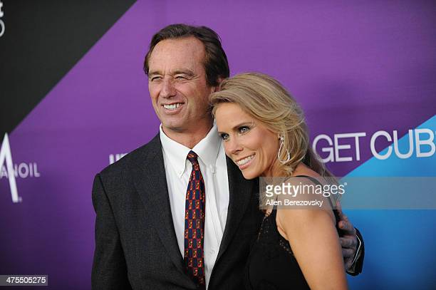 Actress Cheryl Hines and Robert F Kennedy Jr attend the 1st Annual Unite4humanity Event hosted by Unite4good and Variety on February 27 2014 in Los...