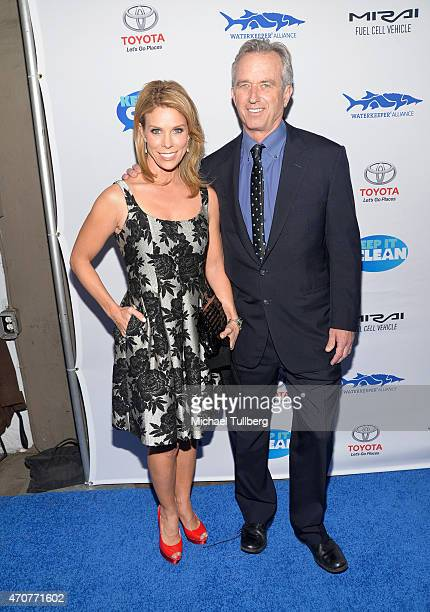 Actress Cheryl Hines and Robert F Kennedy Jr attend the 'Keep It Clean' Comedy Benefit for the Waterkeeper Alliance at Avalon on April 22 2015 in...
