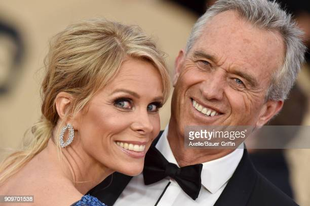 Actress Cheryl Hines and Robert Kennedy Jr attend the 24th Annual Screen Actors Guild Awards at The Shrine Auditorium on January 21 2018 in Los...