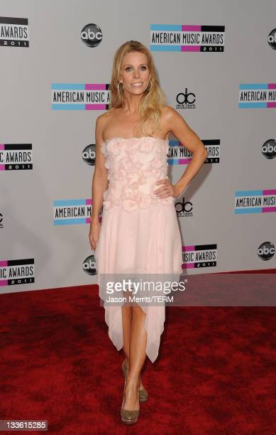 Actress Cheryl Hines arrives at the 2011 American Music Awards held at Nokia Theatre LA LIVE on November 20 2011 in Los Angeles California