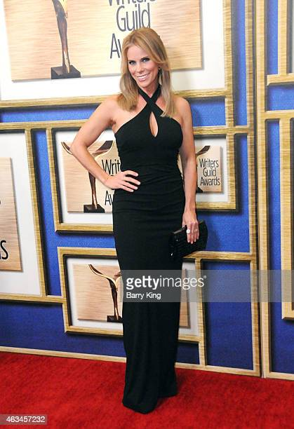 Actress Cheryl Hines arrives at the 2015 Writers Guild Awards at the Hyatt Regency Century Plaza on February 14 2015 in Los Angeles California