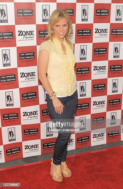 Actress Cheryl Hines arrives at the screening of Paramount Pictures' Waiting For Superman held at Regal Cinemas LA Live Stadium 14 on June 21 2010 in...