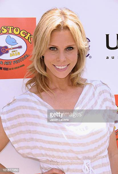Actress Cheryl Hines attends the 4th annual Kidstock Music Arts Festival at Greystone Mansion on June 6 2010 in Beverly Hills California