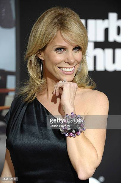 Actress Cheryl Hines attends the 7th season premiere of HBO's Curb Your Enthusiasm at Paramount Theater on the Paramount Studios lot on September 15...