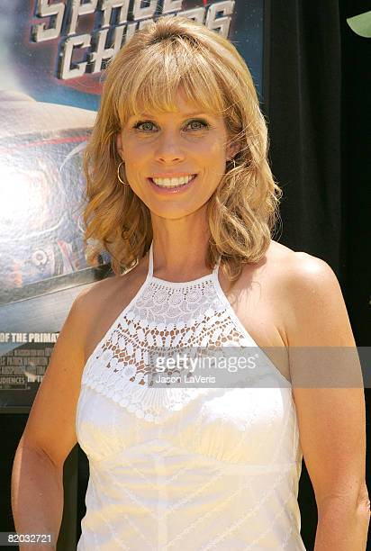 """Actress Cheryl Hines attends the Twentieth Century Fox and Starz Animation Premiere of """"Space Chimps"""" at the Zanuck Theater on July 12, 2008 in Los..."""
