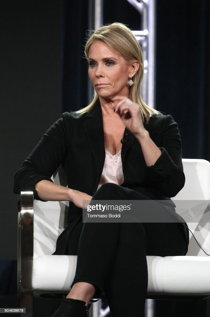 Actress Cheryl Hines of the Sundance Now television show This Close participates in a panel discussion onstage during the AMC portion of the 2018 Winter Television Critics Association Press Tour on January 13, 2018 in Pasadena, California.