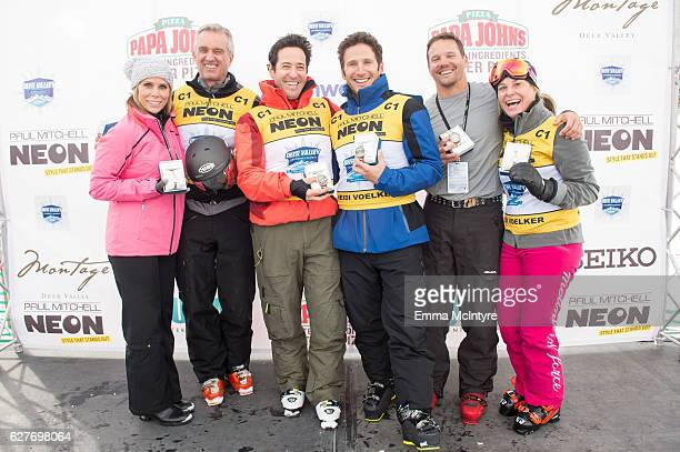 Actress Cheryl Hines President of Waterkeeper Alliance Robert F Kennedy Jr actors Rob Morrow Mark Feuerstain and Dylan Bruno and olympian Heidi...