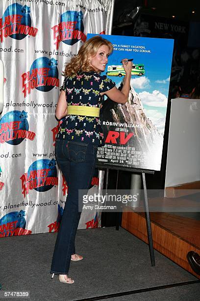 Actress Cheryl Hines promotes the film RV at Planet Hollywood during the 5th Annual Tribeca Film Festival on April 27 2006 in New York City