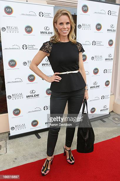 Actress Cheryl Hines walks the red Carpet for the Filmmaker Awards Closing Night Film during the Sarasota Film Festival 2013 at Sarasota Opera House...