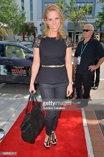 Actress Cheryl Hines walks the red carpet for the premiere of 'Pasadena' during the Sarasota Film Festival 2013 at Regal Hollywood 20 on April 13...