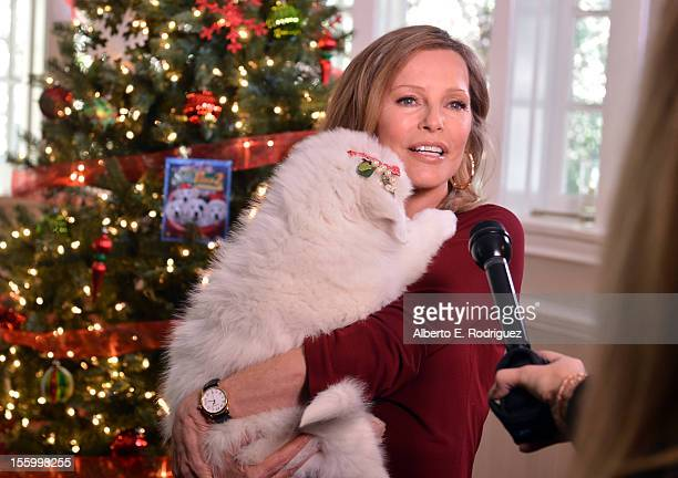 Actress Cheryl Ladd attends the 'Santa Paws 2 The Santa Pups' holiday party hosted by Disney Cheryl Ladd and Ali Landry at The Victorian on November...