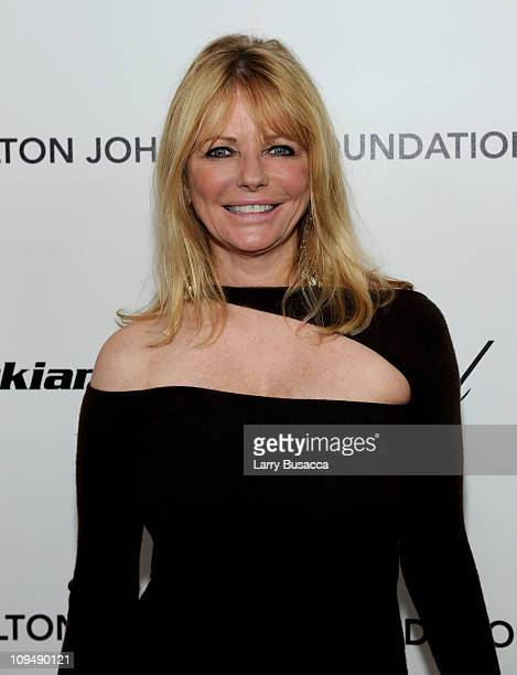 Actress Cheryl Tiegs arrives at the 19th Annual Elton John AIDS Foundation Academy Awards Viewing Party at the Pacific Design Center on February 27...