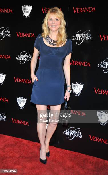 Actress Cheryl Tiegs arrives at the opening of The Great House at Historic Greystone Estate presented by Veranda Magazine City of Beverly Hills and...