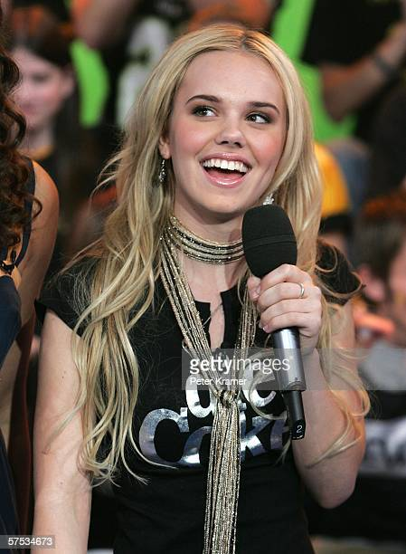 Actress Cheyenne Kimball makes an appearance on MTV's Total Request Live on May 4, 2006 in New York City.