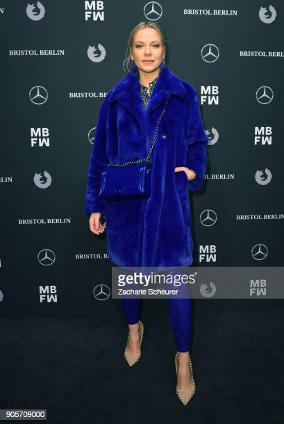 Actress Cheyenne Pahde attends the Riani show during the MBFW Berlin January 2018 at ewerk on January 16, 2018 in Berlin, Germany.