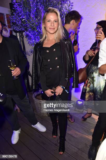 Actress Cheyenne Pahde attends the UFA Fiction Reception during the Munich Film Festival 2016 at Cafe Reitschule on July 2, 2018 in Munich, Germany.
