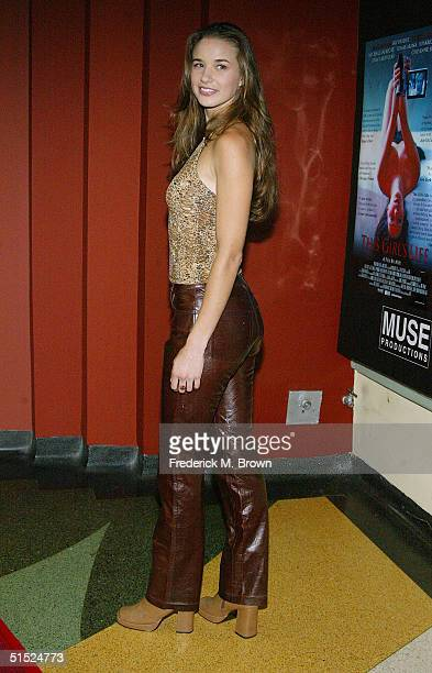 Actress Cheyenne Silver attends the film premiere of This Girl's Life at the Regent Theater on October 20 2004 in Los Angeles California