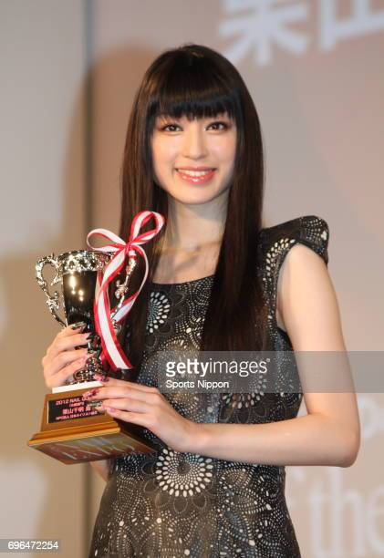 Actress Chiaki Kuriyama attends Nail Queen 2012 Awards Ceremony on November 19 2012 in Tokyo Japan