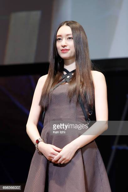 Actress Chiaki Kuriyama attends the Japan Premiere of 'Pirates Of The Caribbean Dead Men Tell No Tales' at the Shinagawa Prince Hotel on June 20 2017...