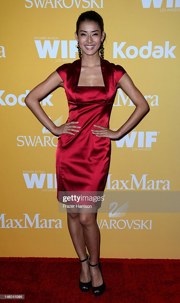 Actress Chiaki Matsubara arrives at the 2012 Women In Film Crystal + Lucy Awards at The Beverly Hilton Hotel on June 12, 2012 in Beverly Hills, California.