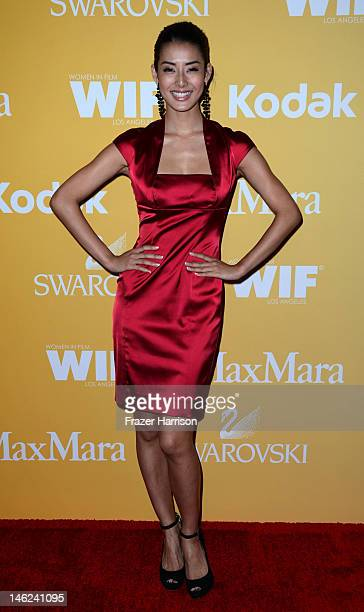 Actress Chiaki Matsubara arrives at the 2012 Women In Film Crystal Lucy Awards at The Beverly Hilton Hotel on June 12 2012 in Beverly Hills California