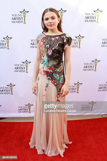 Actress Chiara Aurelia attends the 38th Annual Young Artists Awards at Alex Theatre on March 17 2017 in Glendale California