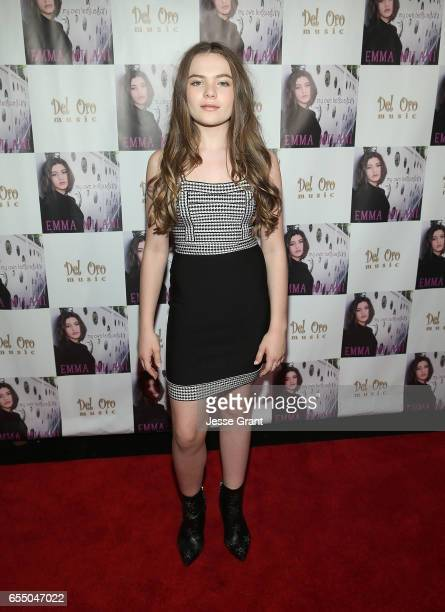 Actress Chiara Aurelia attends the Emma Milani My Own Language song release party at Busby's East on March 18 2017 in Los Angeles California