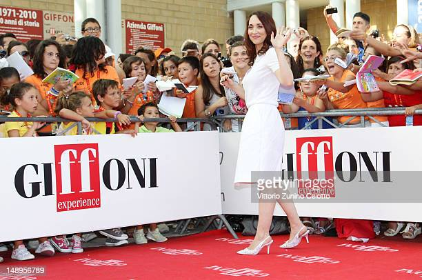 Actress Chiara Francini attends 2012 Giffoni Film Festival red carpet on July 20 2012 in Giffoni Valle Piana Italy