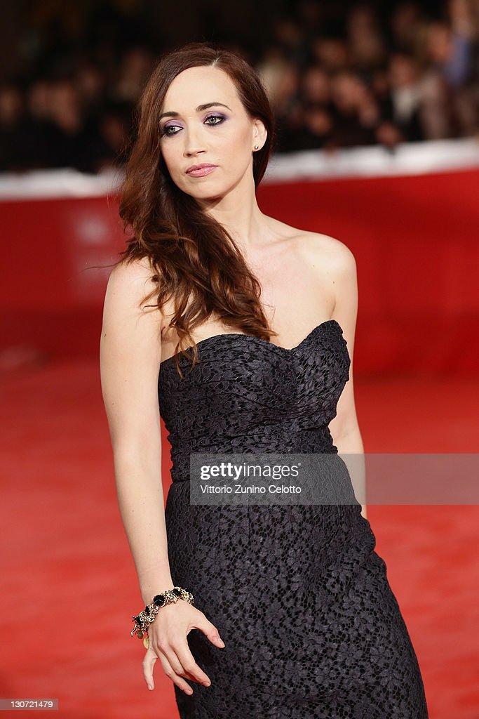 Actress Chiara Francini attends the 'Il Mio Domani' Premiere at Auditorium Parco Della Musica on October 28, 2011 in Rome, Italy.