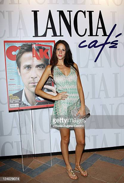 Actress Chiara Martegiani attends the Ciak Party at Lancia Cafe on September 7 2011 in Venice Italy
